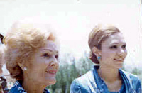 First Lady Patricia Nixon and the Shahbanou of Iran, 05/31/1972
